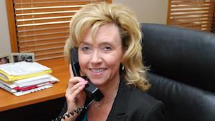 Jackie Westbrook on Phone